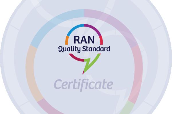 RAN Quality Standard Certificate