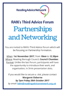 Flyer for the Third Advice Forum